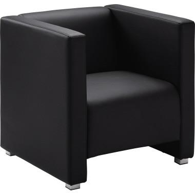 Sessel Kunstleder 700x700x700mm schwarz