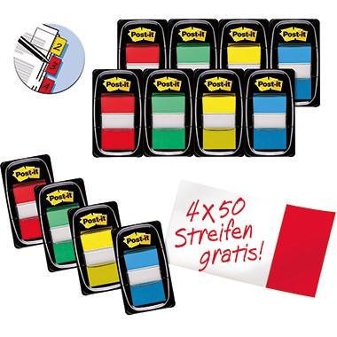 Post-it Haftstreifen Index 680-P12 Promotion farbig 12 Stück