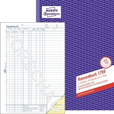 Avery Zweckform Kassenbuch 1756 DIN A4 40Blatt