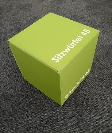 Sitzwürfel 45x45x45cm (HxBxT), Sitzhocker quadratisch, individueller Druck